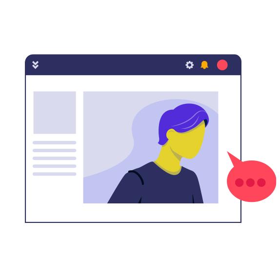 Illustration of a website profile