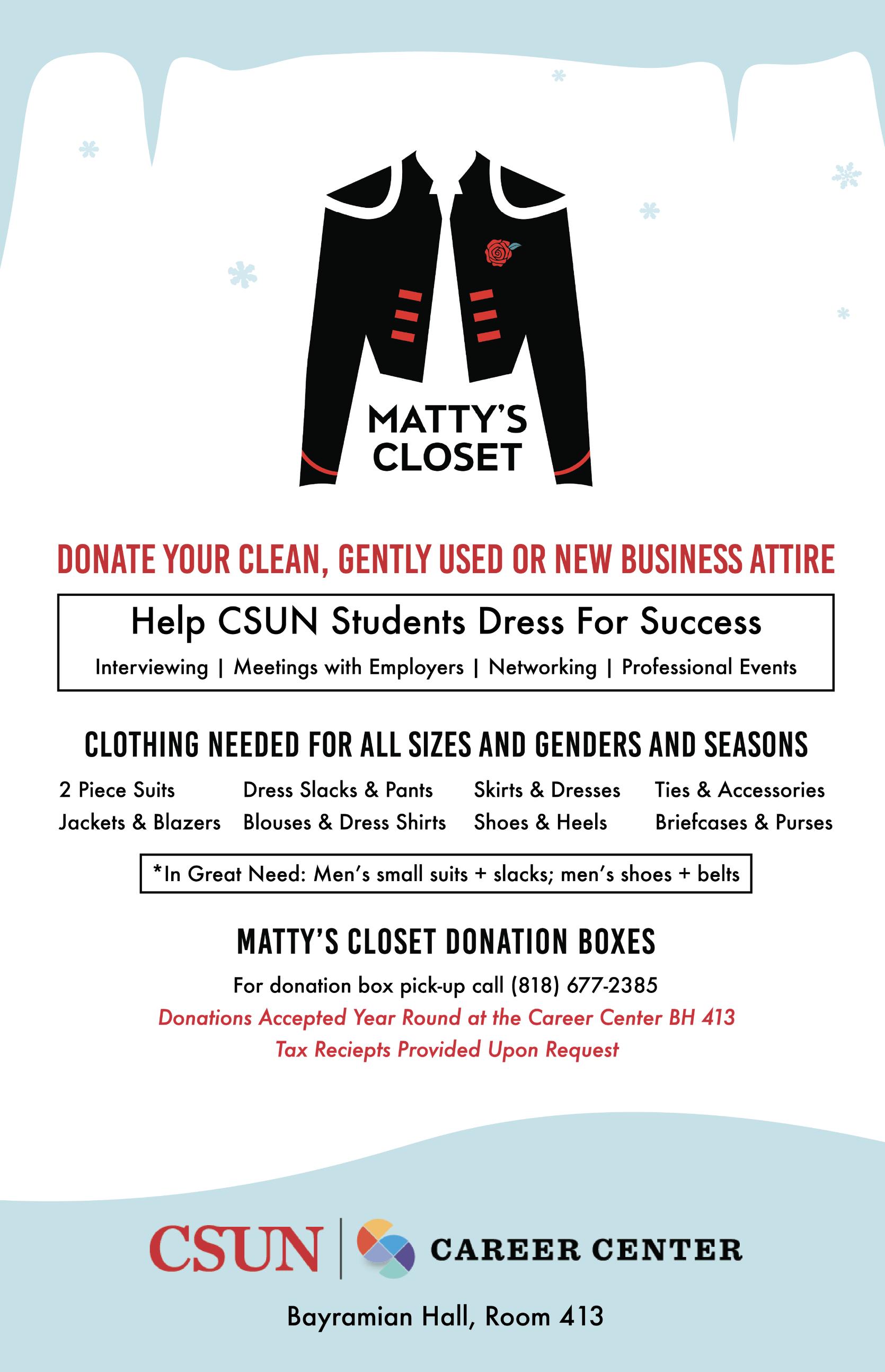 Matty's Closet Flyer